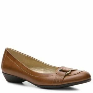 Naturalizer Hermia Brown Leather Flats Shoes 6.5M
